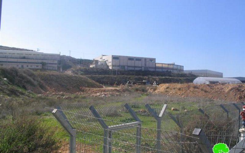 سلطات الاحتلال الاسرائيلي تشرع في أعمال توسعة في مجمع مصانع البركان