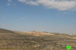 مصادرة أراضي – حيازة مطلقة – للأراضي جنوبي محافظة الخليل لصالح توسيع وحماية وربط مستوطنة اشكلوت