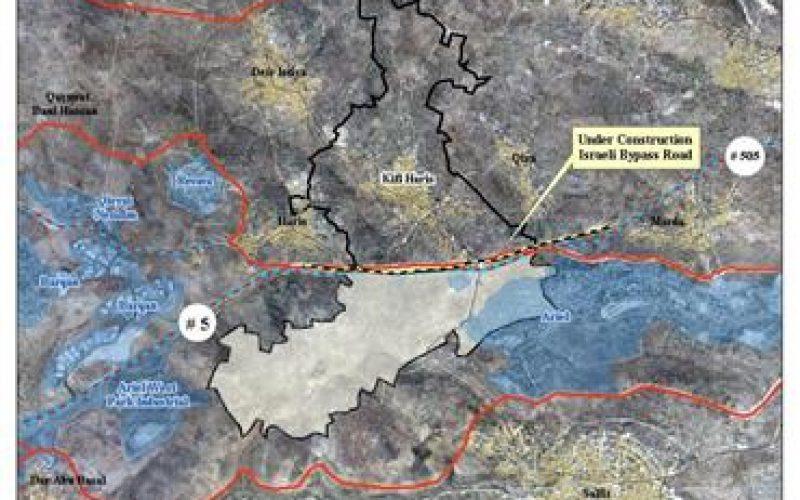 "New Israeli ""Security"" Road carves up the lands of Kifl Haris village"