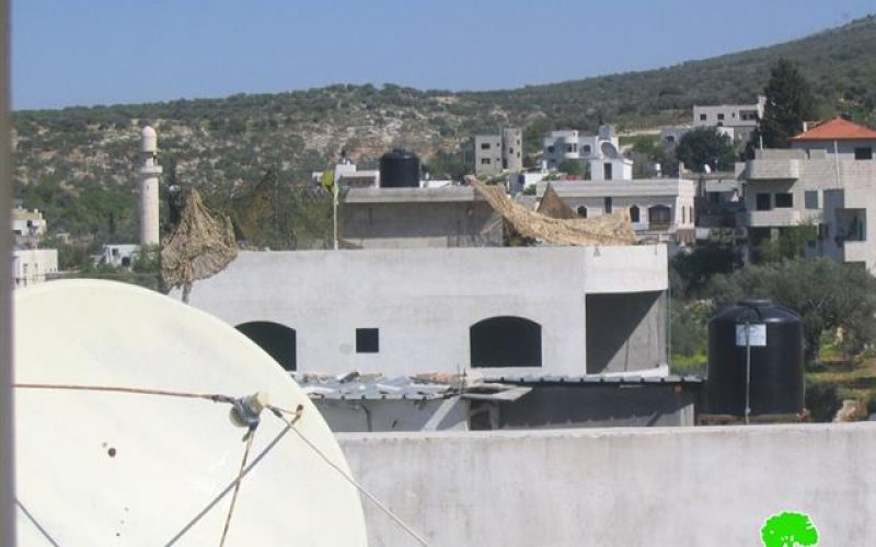 Israeli Occupation Soldiers took over a Palestinian house in Marda Village and Transforms it into a Military Post