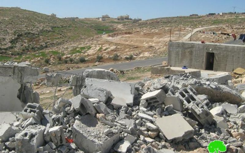 The demolition of a Palestinian House in Ad Deirat Village south of Yatta town