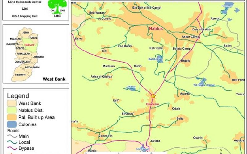 Israeli Occupation Forces Plow Land near Huwwara Checkpoint
