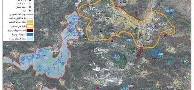 قوات الاحتلال الاسرائيلي تفرض طوقا على مدينة نابلس و 15 تجمع فلسطيني محيط بها منذ العام الماضي