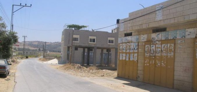 Israeli Occupation Authorities Issue Demolition Orders Against Structures in Nazlet Issa Village