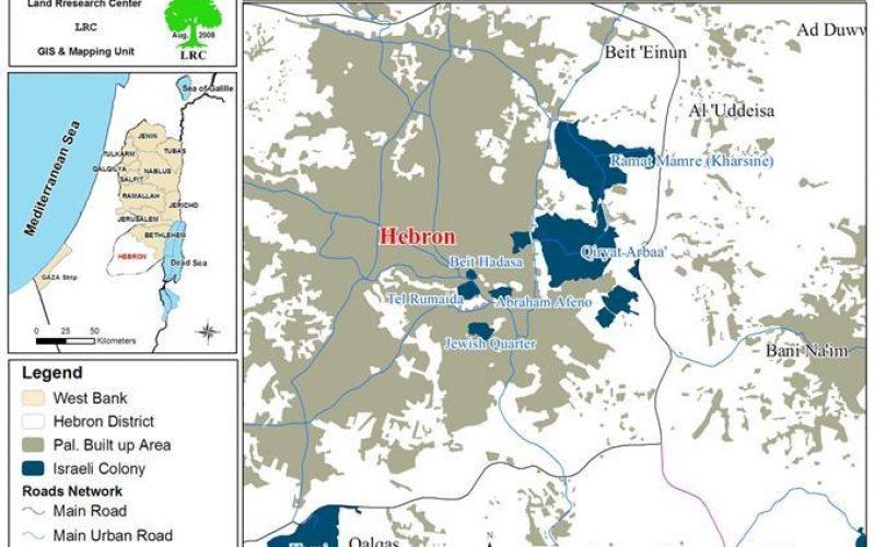 الاحتلال يستولي على قطعة ارض في تل الرميدة بالخليل لتوسيع معسكر احتلالي