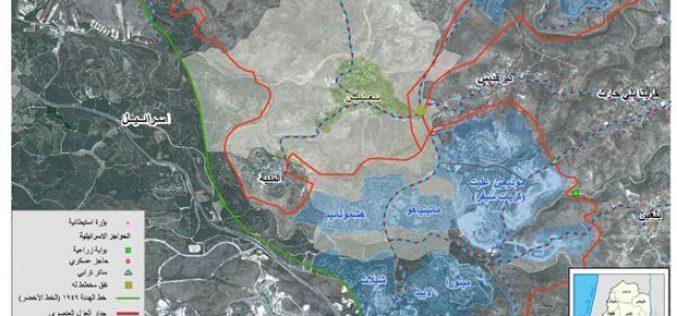 جيش الاحتلال الاسرائيلي يقوم بهجمة وحشية ضد قرية نعلين الفلسطينية الواقعة شمالي غرب محافظة رام الله