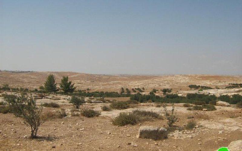 سلطات الاحتلال  تضع اليد على 22 دونماً من أراضي بلدة يطا وتغلق مئات من أراضيها أيضا