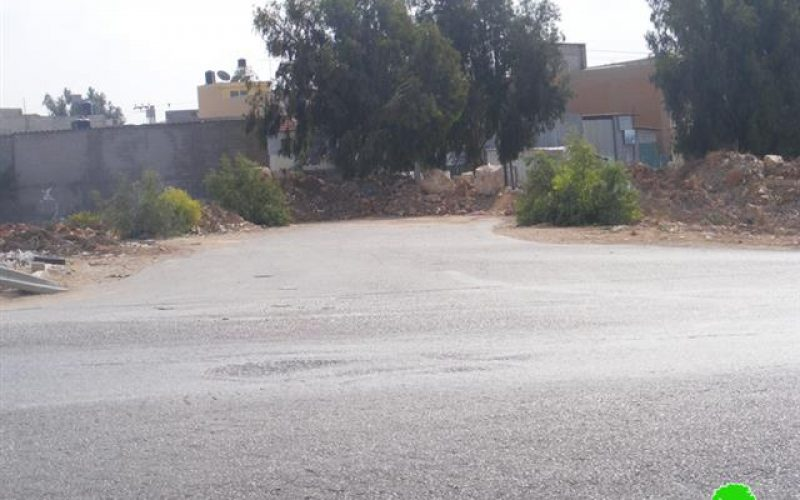 Israeli Occupation Army block Azzun Al Shamaliya village's main entrances