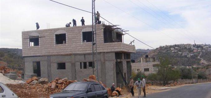 Stop Work Orders in the Village of Broqin – Salfeet Governorate