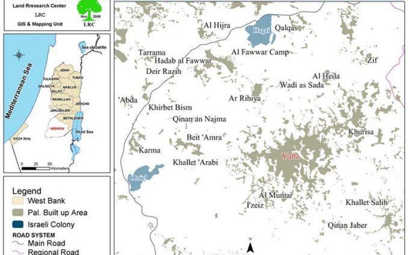 """شركة """" ميكيروت الاسرائيليه """" تتوقف عن تزويد بلدة يطا بالمياه"""