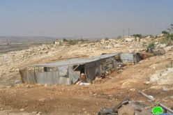 The Demolition of Shelters and Tin Shacks in Al Mua'arrajat area in Jericho Governorate