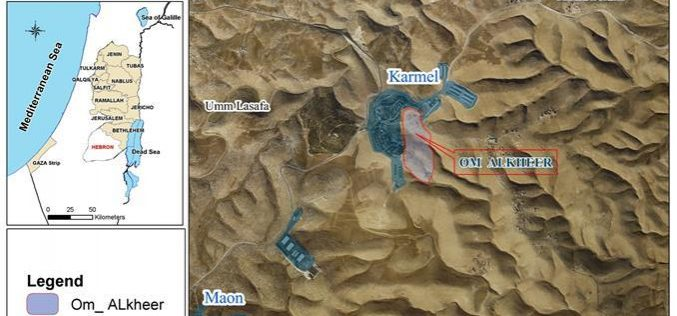 For the Sake of Karmeil Colonists, Israeli Occupation Forces Demolish Shelters of Arab Al Hathalin