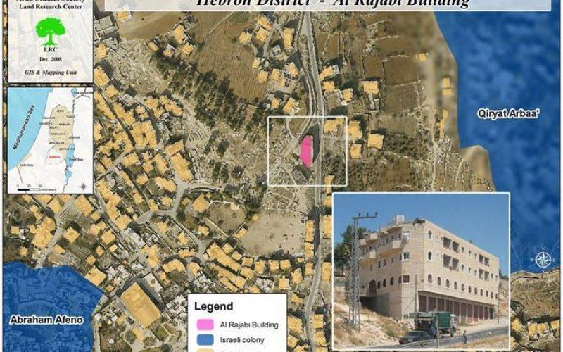 عمارة الرجبي في الخليل … وحرب الاستيطان الإسرائيلي