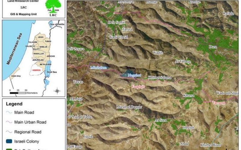 تجريف أراضي في قرية طرامة جنوب دورا