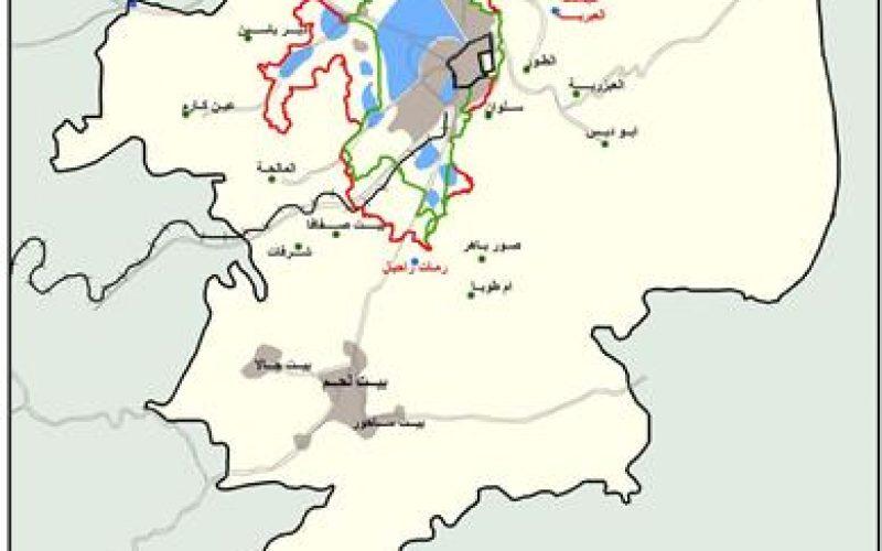 """فصل جديد من المشروع الاستيطاني الاسرائيلي لمدينة لقدس <br> """"الخارطة الاقليمية للقدس 2008"""""""