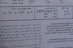 A New Wave of Stop Work Orders In Al Beqa' Neighborhood East of the City of Hebron