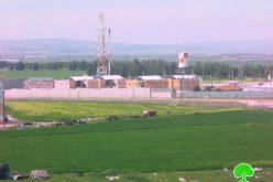 قوات الاحتلال تخطط  لتوسيع حاجز الجلمة