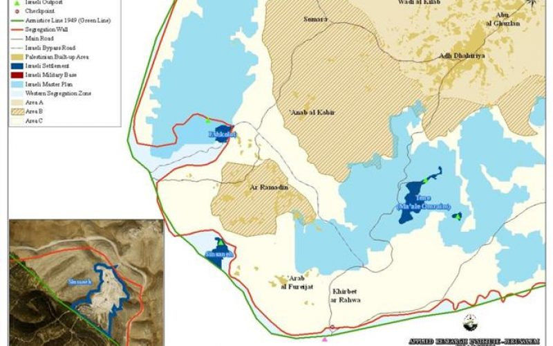 An Israeli Colonial Expansion in Sinsanah Settlement in Southern Hebron Governorate