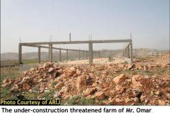 اخطارات اسرائيلية بالهدم في منطقة جبل هراسة شرق مدينة بيت ساحور