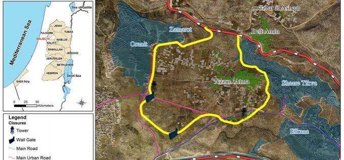 A New Closure on the Palestinians of Azzoun Al Atma