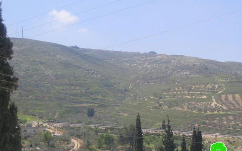 نهب المزيد من الأراضي الفلسطينية لتوسيع مستعمرة براخا