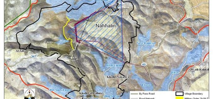 An Israeli Electricity Grid to curtail Nahhalin Village Lands