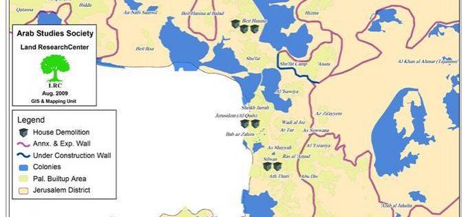 هدم المنازل الفلسطينية في القدس خلال شهر تموز 2009