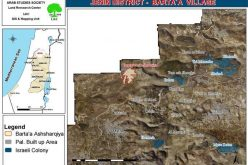 The Israeli Occupation Army Issues Stop-Work Orders against a Number of Houses in East Barta'a