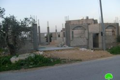 Halt of construction notifications in the village of Azzun