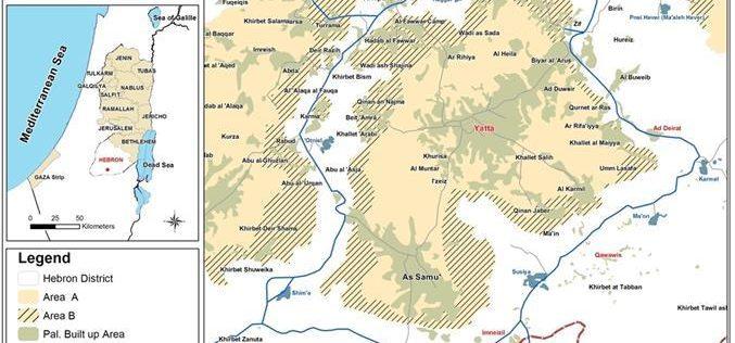 هدم وإخطارات المساكن والمنشآت في قرية الديرات شرقي يطا