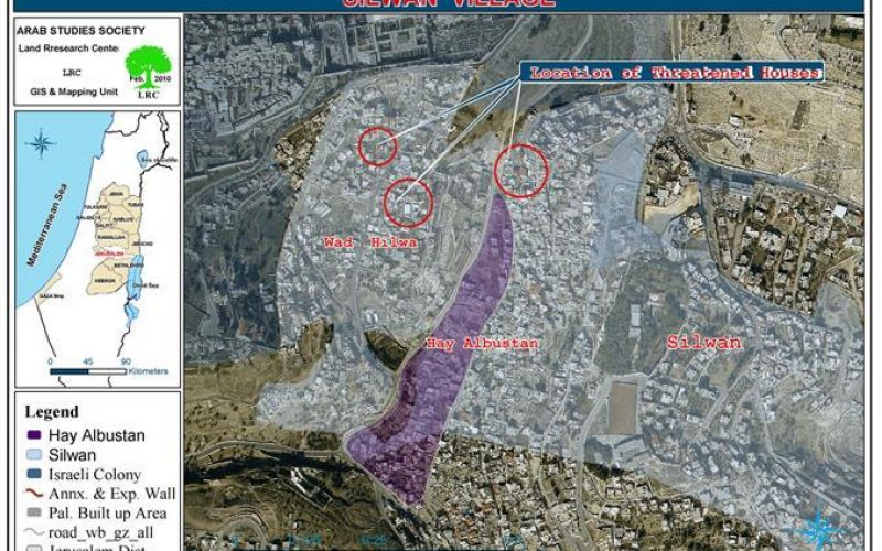 Demolition Orders against 11 Palestinian Residences in Silwan