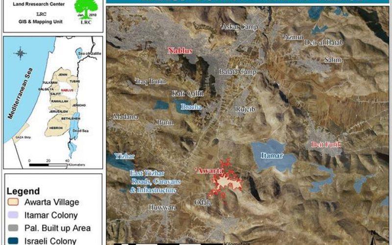 إخطارات بمصادرة أراضي لاغراض عسكرية في قرية عورتا