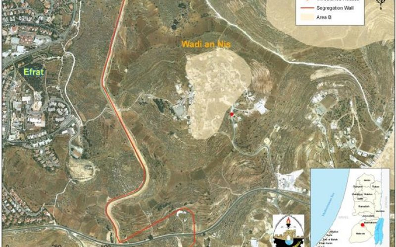"""""""Flagrant Violation against basic Human Rights"""" <br> Six new halt-of-construction orders in Wadi An Nis Village"""