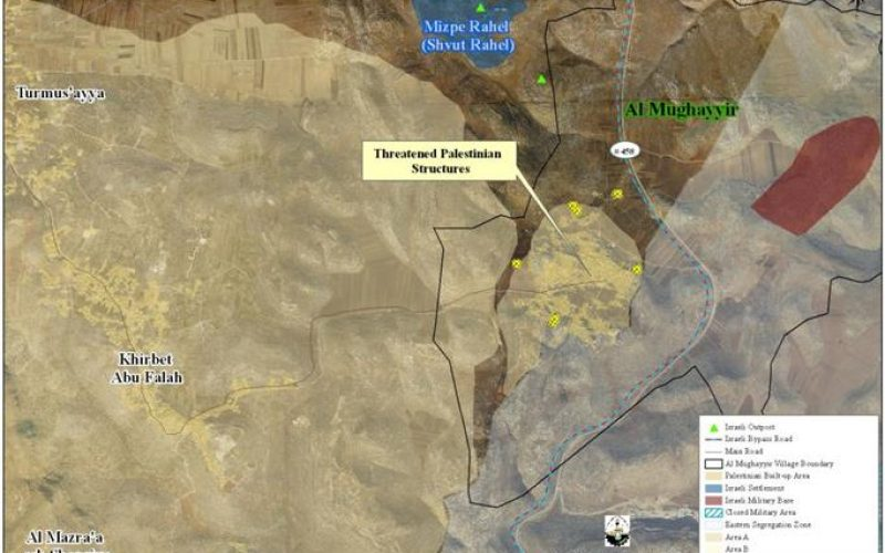 Israeli Demolition Orders for 12 Palestinian Houses in Al Mughayer village
