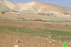 حرق عشرات الدونمات الزراعية في منطقة أم القبا في الأغوار الشمالية