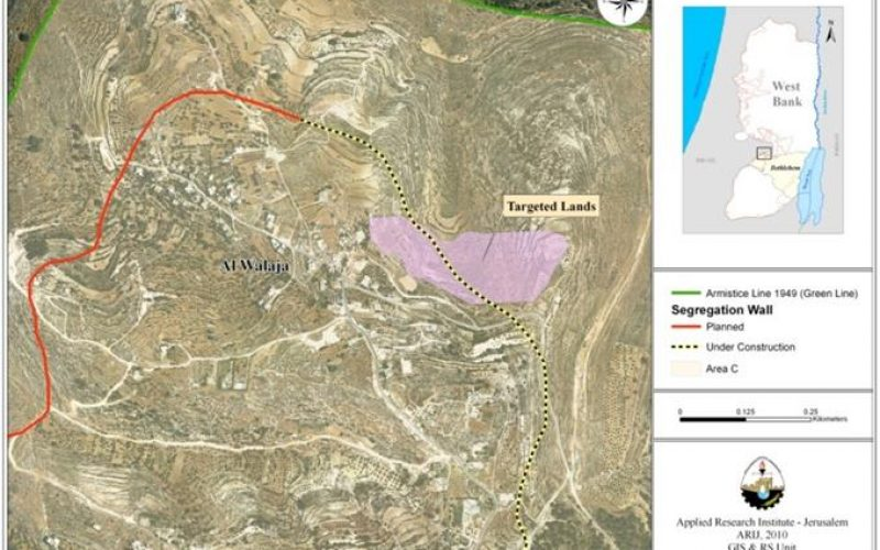 Israel continues razing Al Walajeh village lands for the Interest of the Israeli Segregation Wall