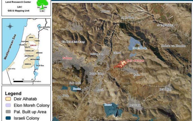 منع المزارعين الفلسطينيين من استغلال أراضيهم الزراعية  في قرية دير الحطب