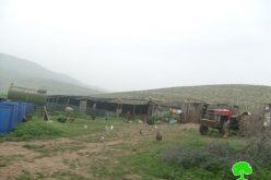 إخطار أصحاب 55 منشأة سكنية وزراعية  بالرحيل في الأغوار الشمالية
