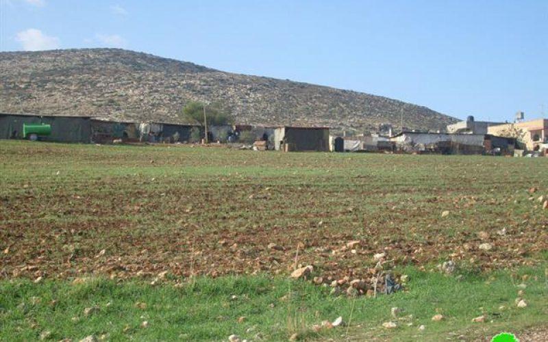 الاحتلال الإسرائيلي يخطر تجمع خربة ابزيق بالإخلاء