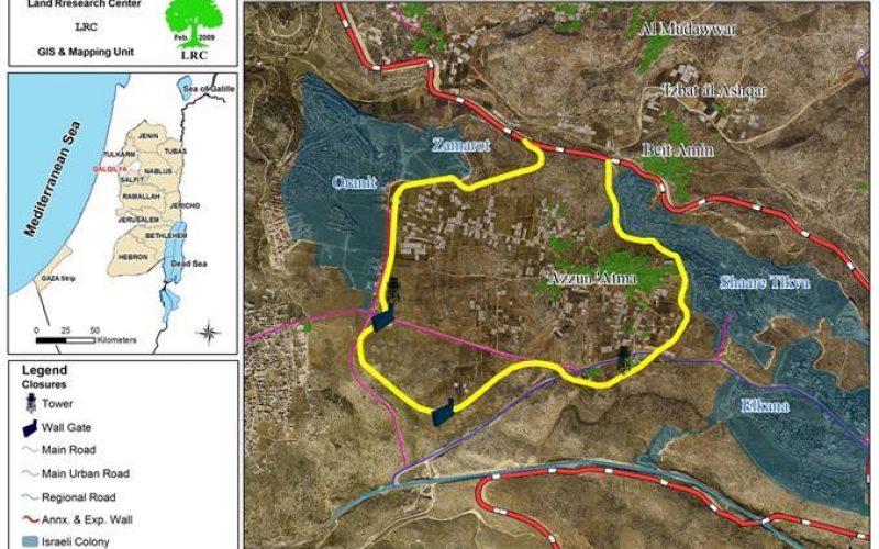 الاحتلال الإسرائيلي يهدم منزلين في قرية عزون عتمة