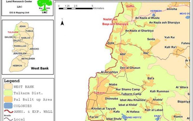 إخطار  بوقف البناء في منشآت ومساكن المواطنين في قرية نزلة عيسى