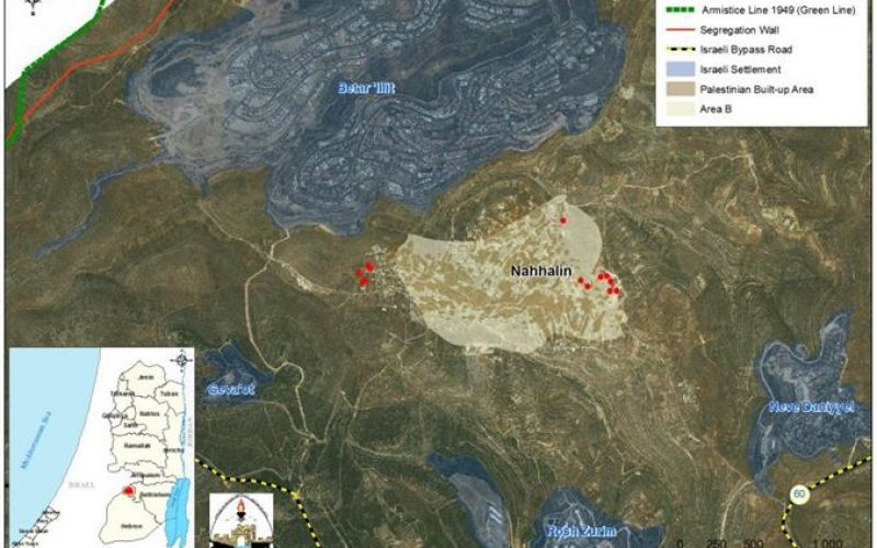 New Israeli halt of construction Orders in Nahhalin Village Southwest of Bethlehem Governorate