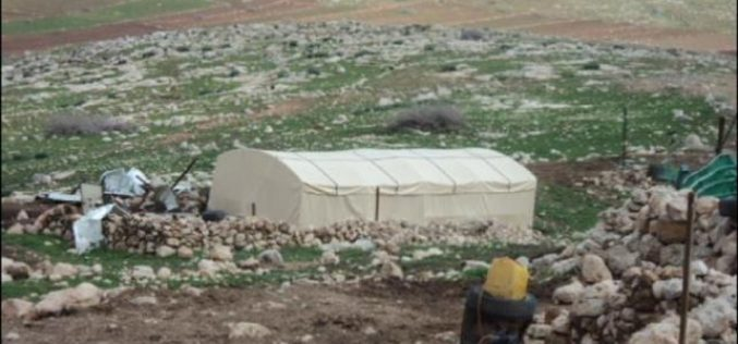 The Israeli Occupation authorities target Kherbit Yerza for the third time in less than a year