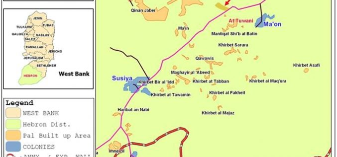 """مستعمرو """"ماعون"""" يعتدون على المزارعين وطلبة المدارس في قرية التواني جنوب يطا"""