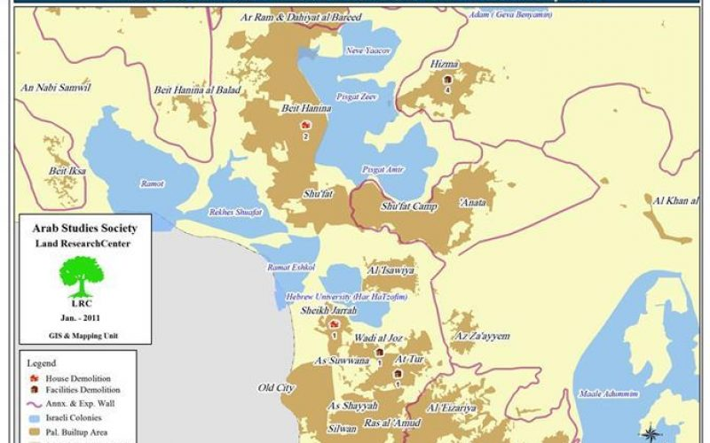 The Israeli Municipality in the Occupied city of Jerusalem Demolishes Nine Structures