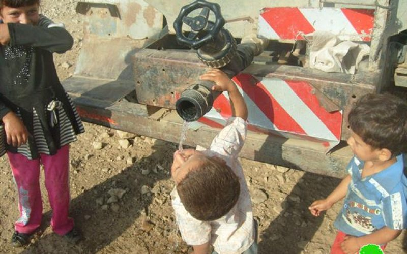 مصادرة صهاريج نقل المياه  في خربة طانا