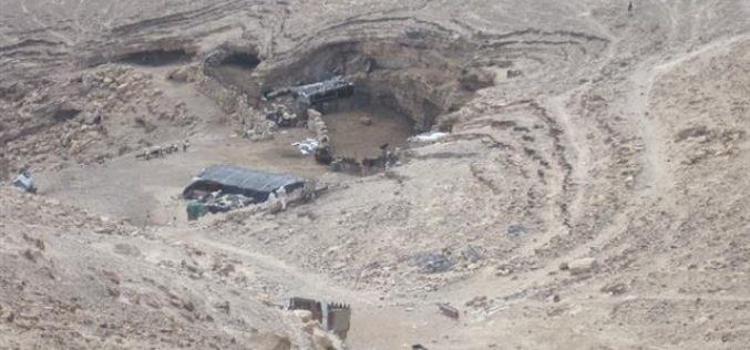 Stop Work and Demolition Orders against Palestinian Structures and Caves in Arab Al Rashayda Village
