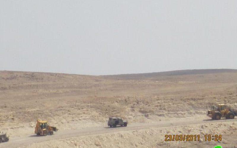 هدم حوض ماء في قرية عرب الرشايدة