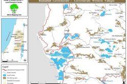 الاحتلال يخطر باستمرار وضع اليد على أراضي مصادرة  في القرى الغربية لمحافظة رام الله