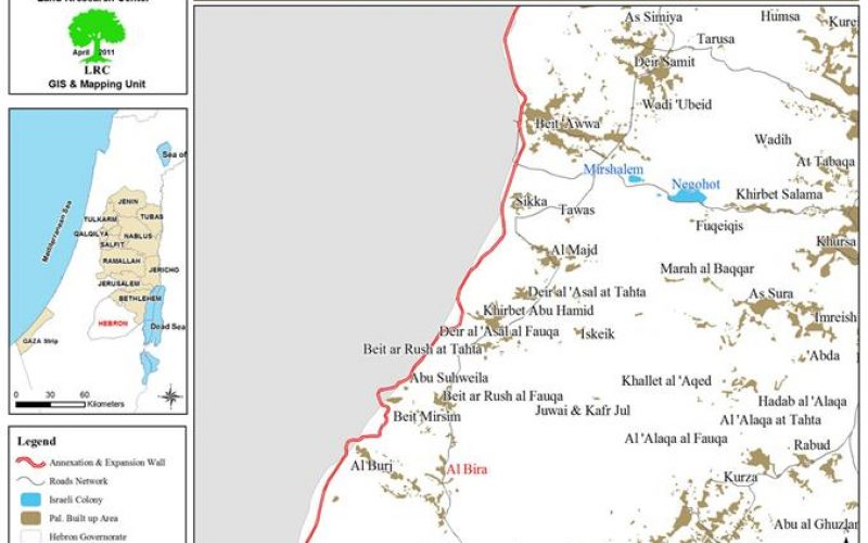 Demolition Notification against a Shack and a Water Well in  Al Bira – Hebron Governorate